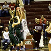 Katie Baker working for a rebound