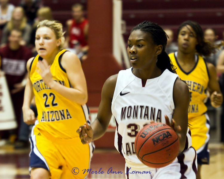 Tianna Ware with the ball