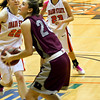 Jessa with the ball looking for her shot
