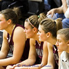Alyssa, Steph, Jessa and Lexie paying attention to the game