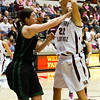 Katie Baker after shooting the ball. I wonder if a foul was called.