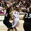 Katie Baker with the ball.
