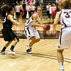 Stephanie Stender with the ball.