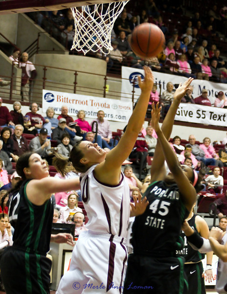 Alyssa Smith going for a rebound.