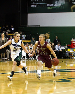 Lexie bringing the ball down the court