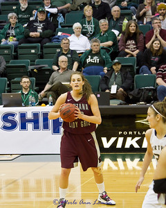 Katie Baker looking to pass.