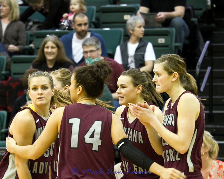 Lady Griz starters heading to the floor
