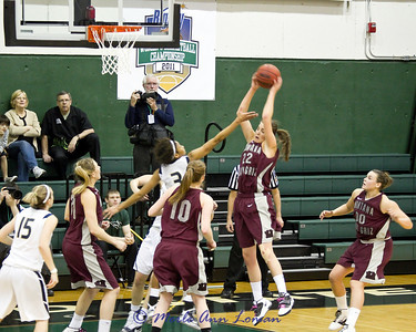 Katie Baker bringin in a rebound - she got fouled!