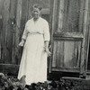 Mark Amyx's mother, Grandma Melissa Thompson-Amyx-Provoncher on the Provoncher homestead on Lower Blanco, S of Pagosa Springs, Colorado