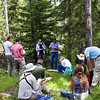 The class at Lee Creek Campground west of Lolo on Highway 12