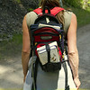 Student ready for the trail.
