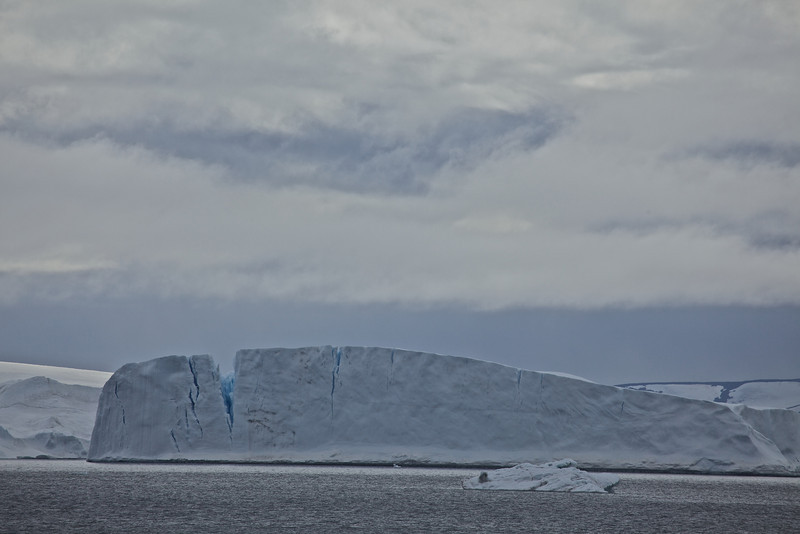 We start to see more amd more of the tabular iceberg type, which are found only on the east side of the Antarctic Peninsula.
