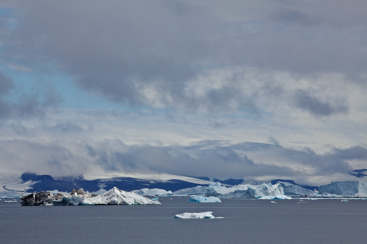 As we head towards Devils Island, we pass more and more icebergs.