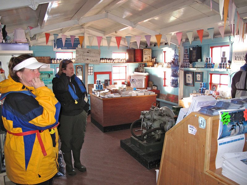 Proceeds from the small souvenir shop fund the upkeep of the site and other historic sites and monuments in Antarctica.