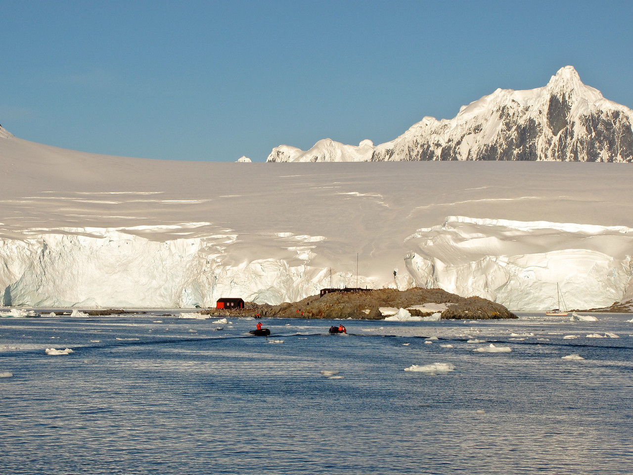 Port Lockroy is a natural harbour on the Antarctic Peninsula of the British Antarctic Territory.