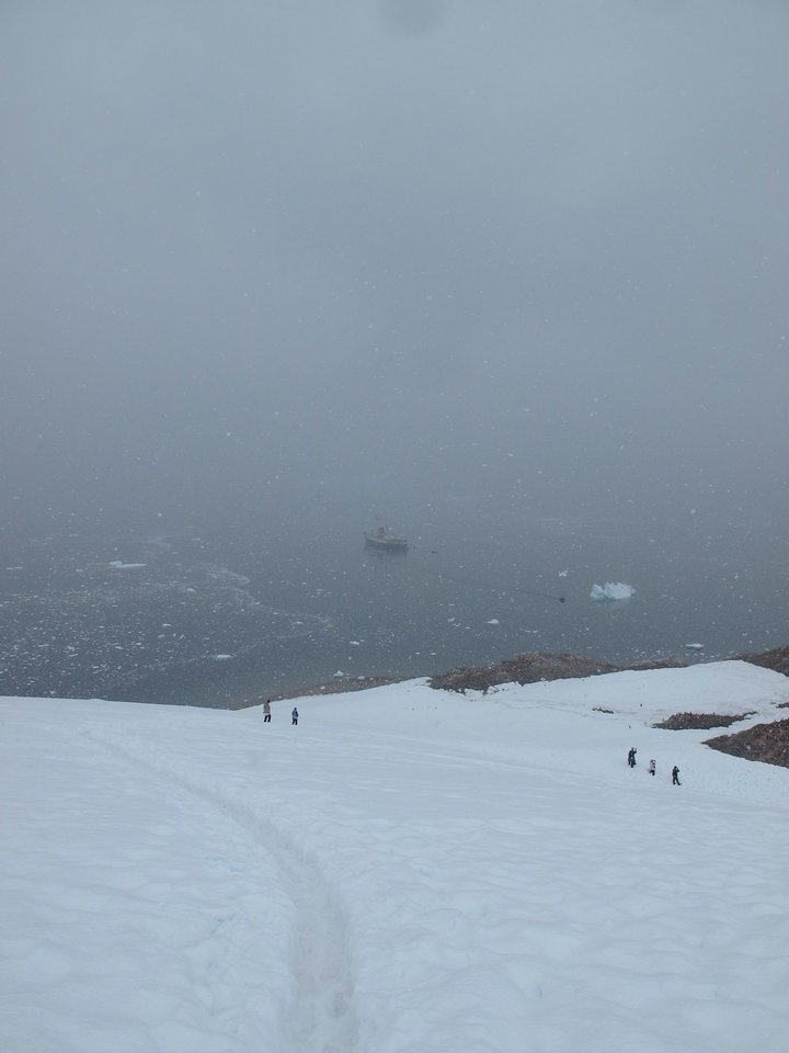 You can see our ship the M/V Ushuaia in the distance.