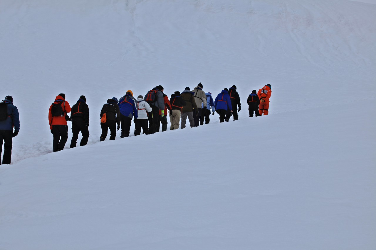 While the route is completely through the snow, you can be at the top in less than 30 minutes.