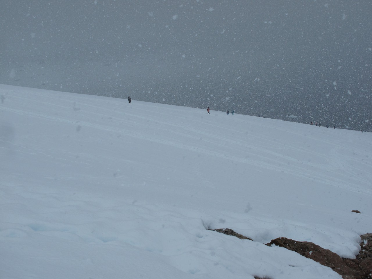 One of the amazing things about Antarctica is how quickly the weather can change.  From snow one minute...