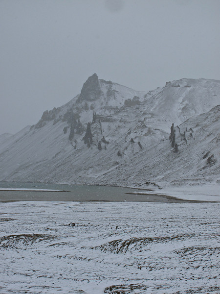 In just a matter of minutes, the snow moves in and you can see how quickly the landscape changes.