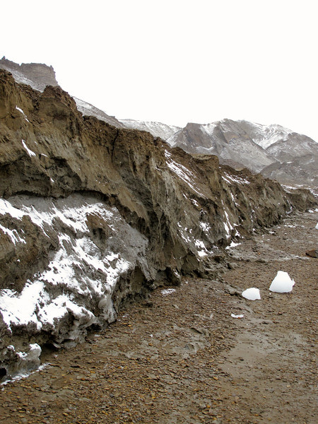 As you walk along the shore of Snow Hill, you can see the erosion taking place along the beach.