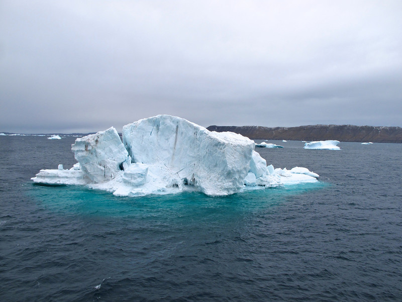 On average, only 10% of the iceberg appears above water, the other 90% sits below water level.
