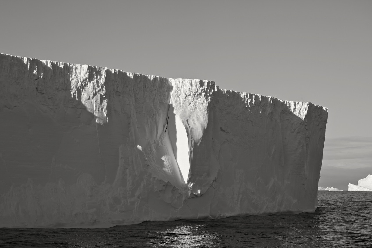 Iceberg B15, which calved from the Ross Ice Shelf in 2000 and initially had an area of 11,000 km², was the largest iceberg ever recorded. It broke apart in November 2002.
