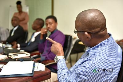 Sylvester Okoh responding to a participant