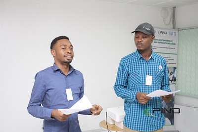 Participants in group presentations