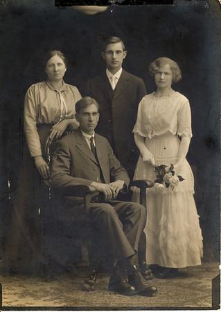 Agnes Sedy LeCoump and Aurthuar LeCoump in Nevada. Wedding Photo