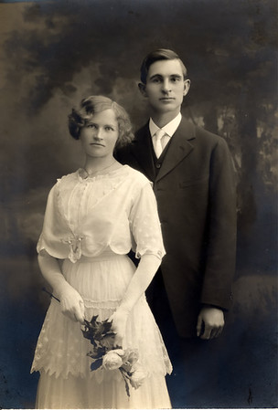 Agnes Sedy LeCoump and Aurthuar LeCoump in Nevada. Wedding Photo