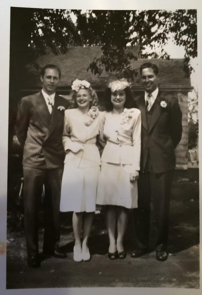Aurthur LeCoump, Robert LeCoump, Bernice Sedy, Glorine Sedy