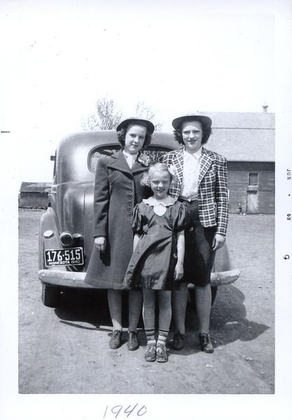 Arlene, Mertis, and Helen Akemann
