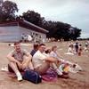 Jim, Harland & Arlene Riemer at the beach