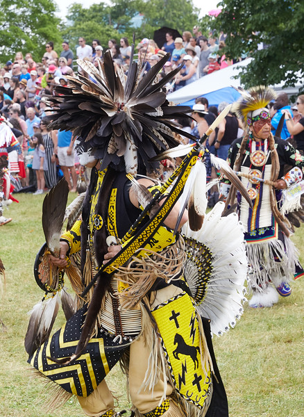 Indigenous Peoples Pow Wow dancer from California