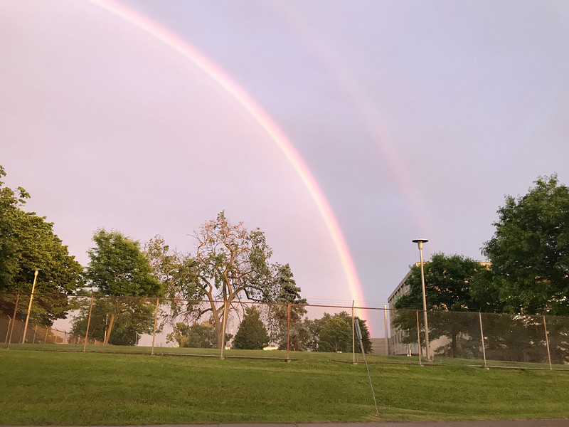 A wonderful rainbow captured on our way home from downtown Ottawa