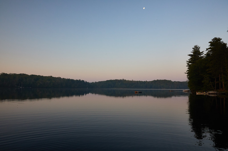 Cottage lake near dawn