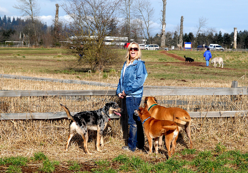 Amanda @ Marymoor with Foggy, Molly & Benny-Redmond, WA 2-14-2008