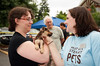 Mel meets a newly matched pair-Woodinville Wags & Whiskers 8-1-2010