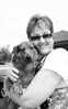 Royce & his new Person, bw-Woodinville, WA 8-1-2010