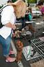 dachshund chooses labrador @ adoption fair 8-1-2010