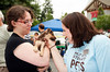 Mel making friends @ the Woodinville Wags & Whiskers adoption fair 8-1-2010