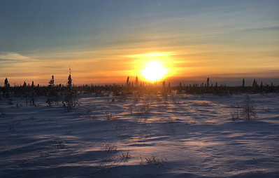 Sunset near Wat'chee Lodge, Manitoba
