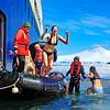 Polar Plunge, Port Lockroy, Antarctica