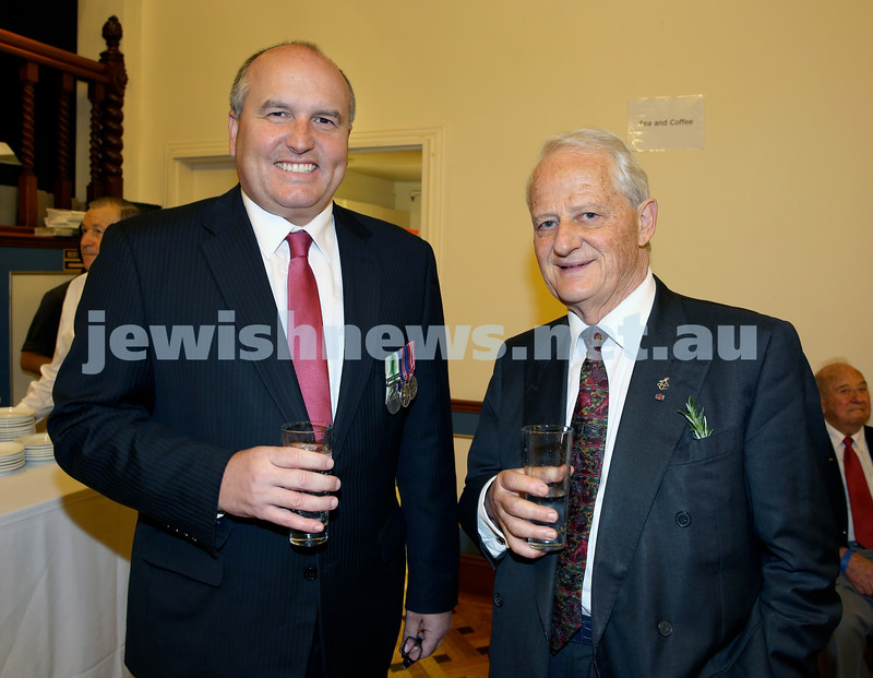 Anzac Centenary Commemorative Service of the NSW Jewish Community. David Elliot & Philip Ruddock.