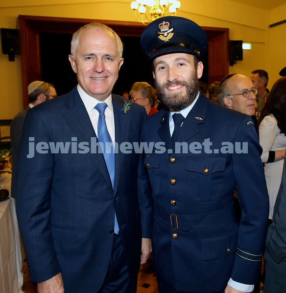 Anzac Centenary Commemorative Service of the NSW Jewish Community. MP Malcolm Turnbull & Rabbi Yossi Friedman.