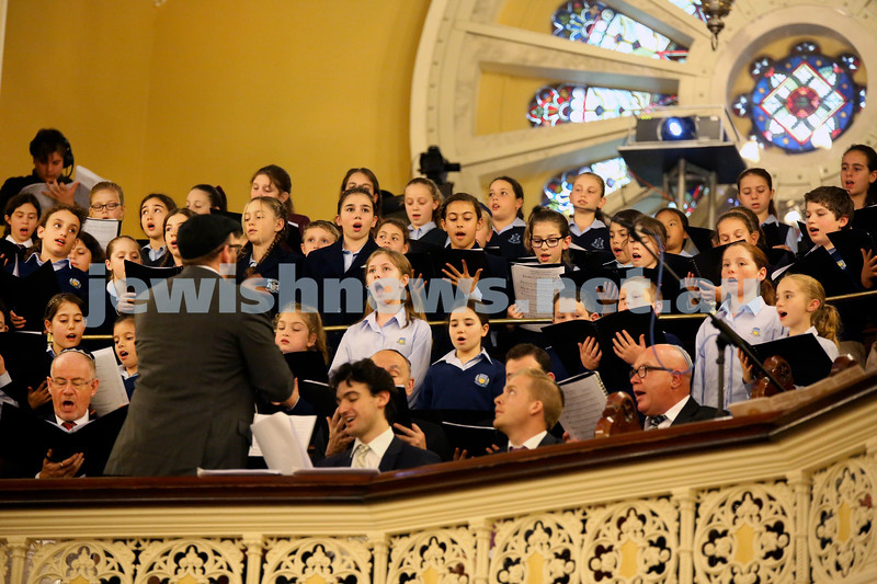 Anzac Centenary Commemorative Service of the NSW Jewish Community. Combined choir.