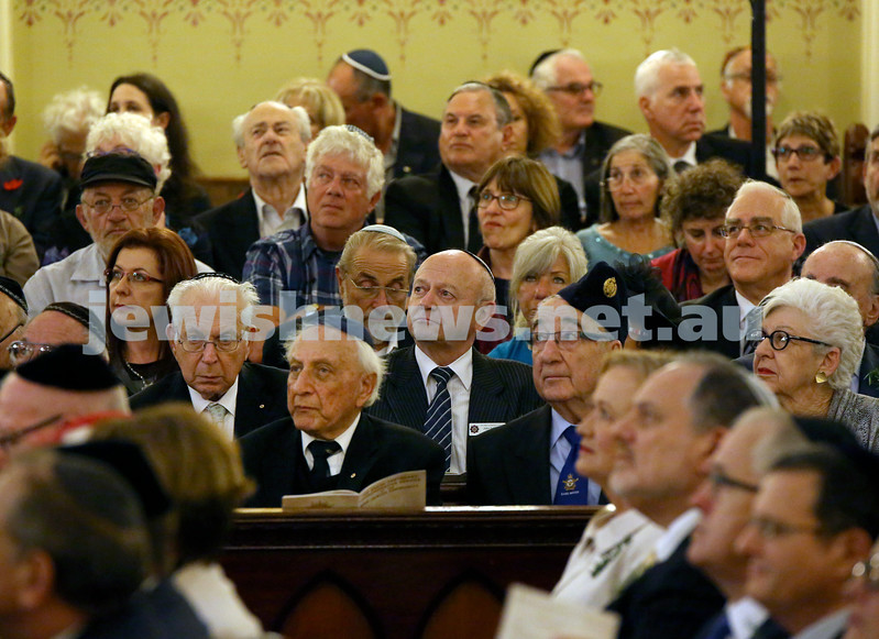 Anzac Centenary Commemorative Service of the NSW Jewish Community. Crowd shot.