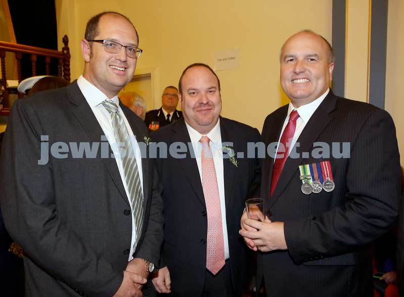 Anzac Centenary Commemorative Service of the NSW Jewish Community. Rabbi Paul Lewin, Yair Miller, David Elliot.