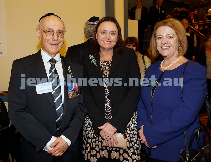 Anzac Centenary Commemorative Service of the NSW Jewish Community. Ivan Klineberg, Lisa Gilmore, Jennifer Collins.
