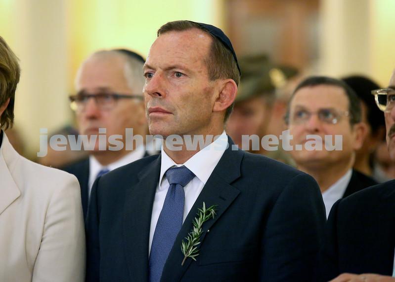 Anzac Centenary Commemorative Service of the NSW Jewish Community. Prime Minister Tony Abbott.